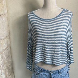Lightweight cropped beach sweater